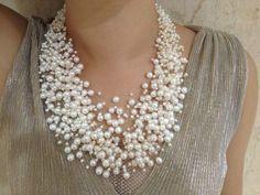 Aliexpress.com : Buy 30 Layers Wedding Pearl Necklace Starriness ...  #womanjewelry