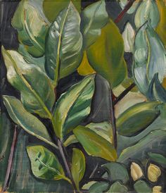 """This is a foliage study for the background of Heward's painting, """"Barbara."""" """"Leaves (Study for Portrait of Barbara),"""" c. National Gallery of Canada. Canadian Painters, Canadian Artists, Painting People, Figure Painting, Quebec, Montreal, Female Painters, Art Society, Portraits"""