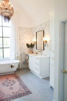 marble hex tile in bathroom