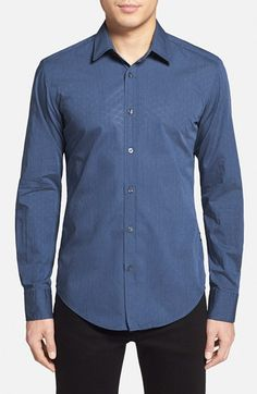 Men's BOSS 'Robbie' Slim Fit Dobby Sport Shirt