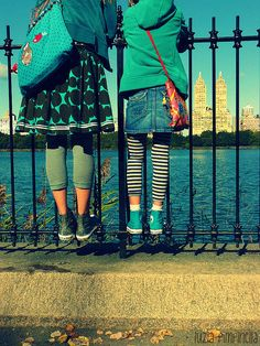 WE two... at the central park reservoir. love this shot.  #NYC #centralpark #reservoir #fence