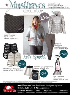 December Musthaves van Divoza Horseworld. #december #sale #musthaves #fashion #mode #ruitersport #producten #grijs #sparkle #shine #grey #montar #harryshorse #pagony #anky #equestrian #horses #paarden