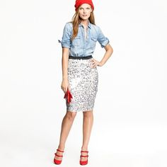 Why would you do this to me, J. Crew? Dangle a skirt like this in front of me, then say its $328.