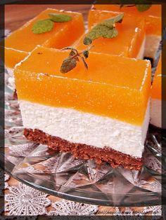 Słodko-słone pichcenie: Sernik z musem brzoskwiniowym na czekoladowo-sucharkowym spodzie (bez pieczenia) Snacks Für Party, Cheesecakes, Vanilla Cake, Catering, Cake Recipes, Food And Drink, Vegetarian, Sweets, Dishes