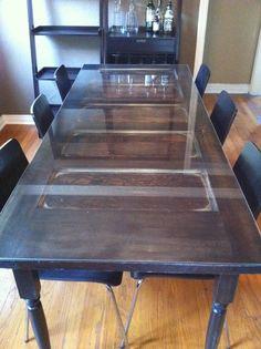 Re-purposed door as dining room table