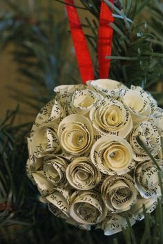 Now I know what to do with the paper flowers I had left over from the wreath I made!
