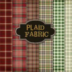 Plaid Fabric printables