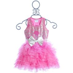 Ooh La La Couture Pink Embroidered Party Dress ($112) ❤ liked on Polyvore featuring kids clothes