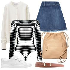 - A graphic stripe works well against casual separates for off-duty cool.