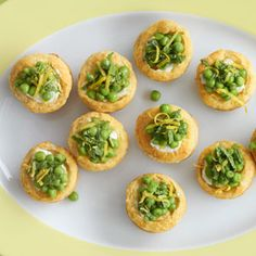 Pepperidge Farm® Puff Pastry: Pea, Goat Cheese and Fresh Mint Tartlets
