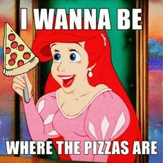 'The Little Mermaid' Pizza Love ♡♥♡♥♡♥ #pizza #disney #TheLittleMermaid #PizzaLove