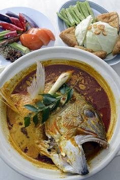 Fish head curry from Good Year Restaurant. More on Singapore food at http://www.straitstimes.com/singapore-hawker-food  Photo: Desmond Foo/The Straits Times