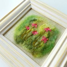 SALE Original textile art needle felted and embroidered
