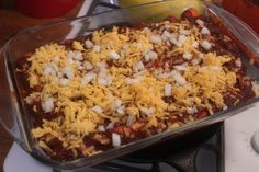 Cheese Enchiladas with Chili Con Carne
