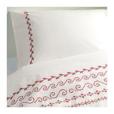 BIRGIT Duvet cover and pillowcase(s) IKEA Percale; crisp, cool bedlinen densely woven from fine yarn.