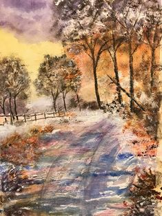 Such beautiful warm tones: 'Early Winter' by MadeleineD. ArtTutor Gallery: Get Inspired By The Artwork of Others