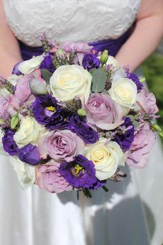 Memory lane, avalanche, purple lisanthus and lavender bouquet...