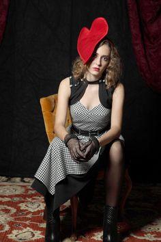 Venus ~ Red silk heart on headband