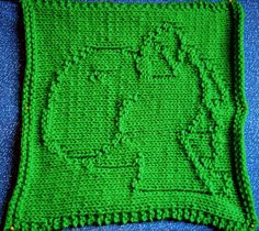 Ravelry: Yoshi Washcloth pattern by Carolyn Lisle - She also has a bunch of other Nintendo characters