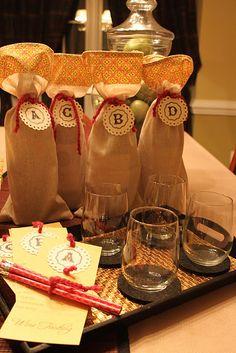 Wine tasting - DIY blind tasting by   great girls night idea