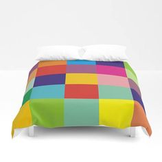 Rainbow color block duvet cover,geometric bedding,colorful duvet cover set,full king queen size duvet cover,modern bedding cover,comforters