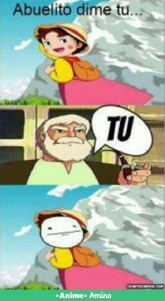 Troleando a Heidi Funny V, Stupid Funny Memes, Haha Funny, Funny Stuff, Funny Things, Anime Meme, Otaku Anime, Funny Spanish Memes, Spanish Humor
