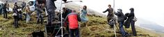 Here's a behind the scenes pic of Caitriona Balfe and Sam Heughan during the Outlander poster shoot. Source: Outlander Starz