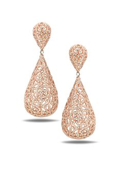 Diamond and Rose Gold Earrings by Casa Reale