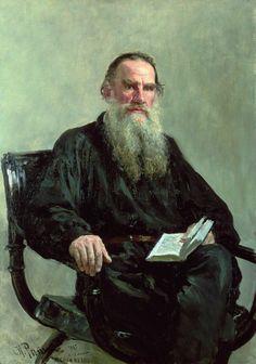 Portrait of Leo Tolstoy - Ilya Efimovich Repin (1844-1930)