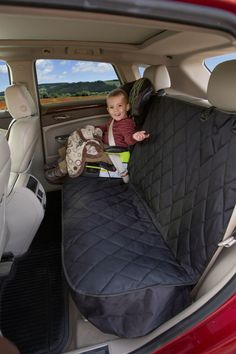 Fitted Seat Cover Rear Bench Seat (Black Regular Non Hammock)
