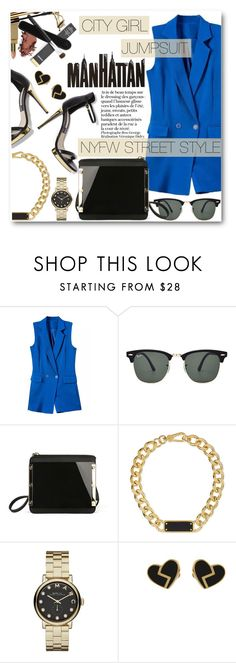 """NYFW Street Style"" by black-fashion83 ❤ liked on Polyvore featuring Ray-Ban, Marc by Marc Jacobs, Marc Jacobs, nyfwstreetstyle and stylemoi"