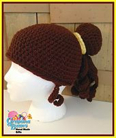 Ravelry: #Princess Inspired Bun Hat/Wig pattern by #Gramma Beans #handmade #mmmakers #Crochetpatterns Only $4!!
