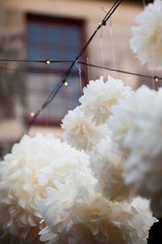wedding pom pom decorations