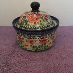 -pre-owned artist Signed Popular Brand Portuguese Sunflower Folk Art Ceramic Bowl