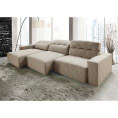 Que tal esbanjar um sofá confortável e quentinho como este? <3