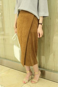 Spick and Span Noble «Reservation Modest Fashion, Skirt Fashion, Power Dressing, Suede Skirt, Hijab Outfit, Skirt Pants, Office Fashion, Skirt Outfits, Everyday Fashion