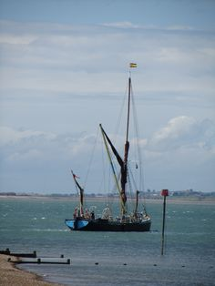 Thames Barge off Whitstable Countries Around The World, Around The Worlds, Whitstable Kent, Kent Coast, Wooden Boats, Yachts, Sailing Ships, Seaside, Nautical