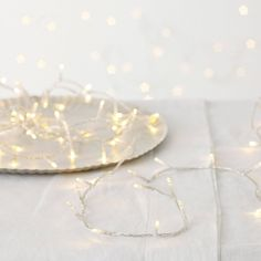 Extra Long Fairy Lights from The White Company Christmas Fairy Lights, Decorating With Christmas Lights, Christmas Love, Christmas And New Year, Christmas Wishes, Christmas Decorations, Xmas Lights, Coastal Christmas, Rustic Christmas