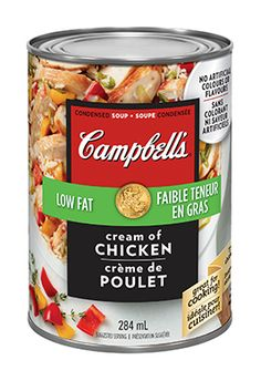 Soupe condensée Crème de poulet à faible teneur en gras, de CAMPBELL'S®