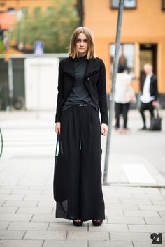 Street Fashion | street-style-black-trend-2013-summer