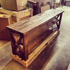 Rustic Barn Style TV Stand / Sofa Table / by MAYHEMFURNITURECO