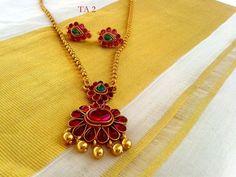 Indian Jewelry Sets, India Jewelry, Temple Jewellery, Ruby Jewelry, Gold Jewelry, Gold Jewellery Design, Simple Jewelry, Jewelry Patterns, Hamsa