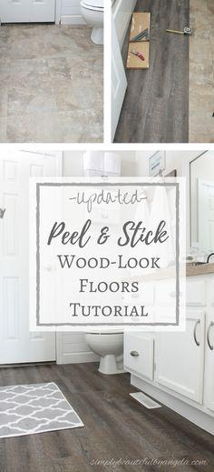 Applying Peel And Stick Floor Tiles Diy Bathroom