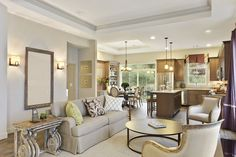 Living Room of the Ranch Kensington Model at Meadowbrook Pointe Athletic Club & Spa