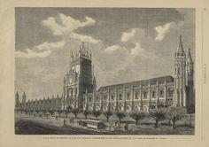 Os Jerónimos antes da derrocada da torre central...