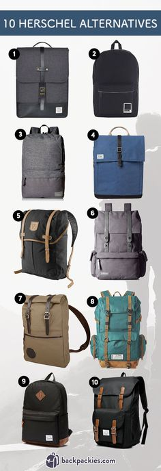 10 Backpacks like Herschel - Brands like Herschel Supply Co. - Read more at https://backpackies.com/blog/10-backpacks-similar-to-herschel