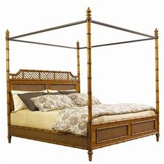 Tommy Bahama Home Island Estate King-Size West Indies Canopy Bed.  Thinking of it draped in gauzy mosquito netting...