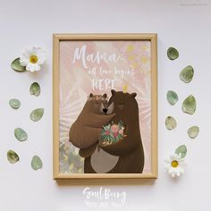 Poster Mother's Day Mama Present for Mother's Day Mommy Mama Muttertag Mutter Wall art. Mothers Day Presents, Wall Decor, Wall Art, Unique Jewelry, Frame, Handmade Gifts, Shop, Flowers, Poster