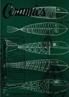 Ceramics Monthly June 1953 Issue, On the Cover: Drawings by Aaron Bohrod