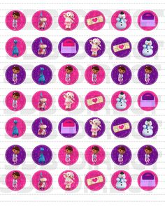 Cute Doc Mcstuffins Table Confetti Decorations,  DIY Print. These also make great bingo markers